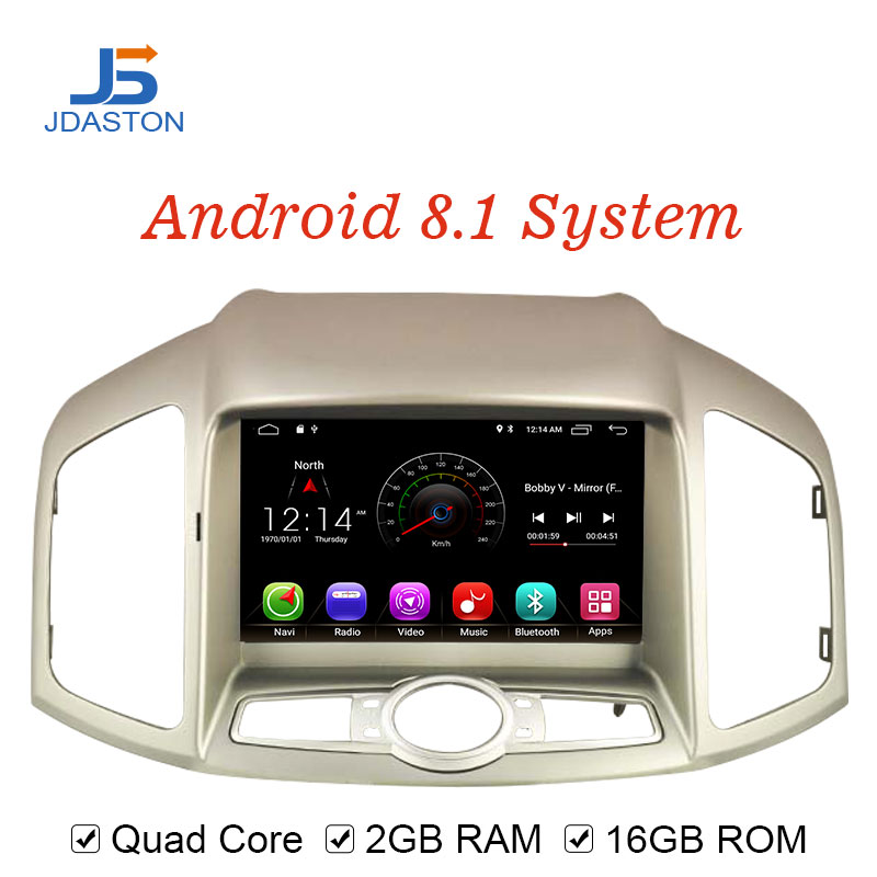 JDASTON Android 8 1 Car DVD Player For Chevrolet Captiva 2012 2015 WIFI SWC GPS Navigation