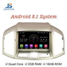JDASTON Android 8,1 dvd-плеер автомобиля для Chevrolet Captiva 2012-2015 wifi SWC GPS навигация 1 Din Автомобильный Радио Мультимедиа стерео SD