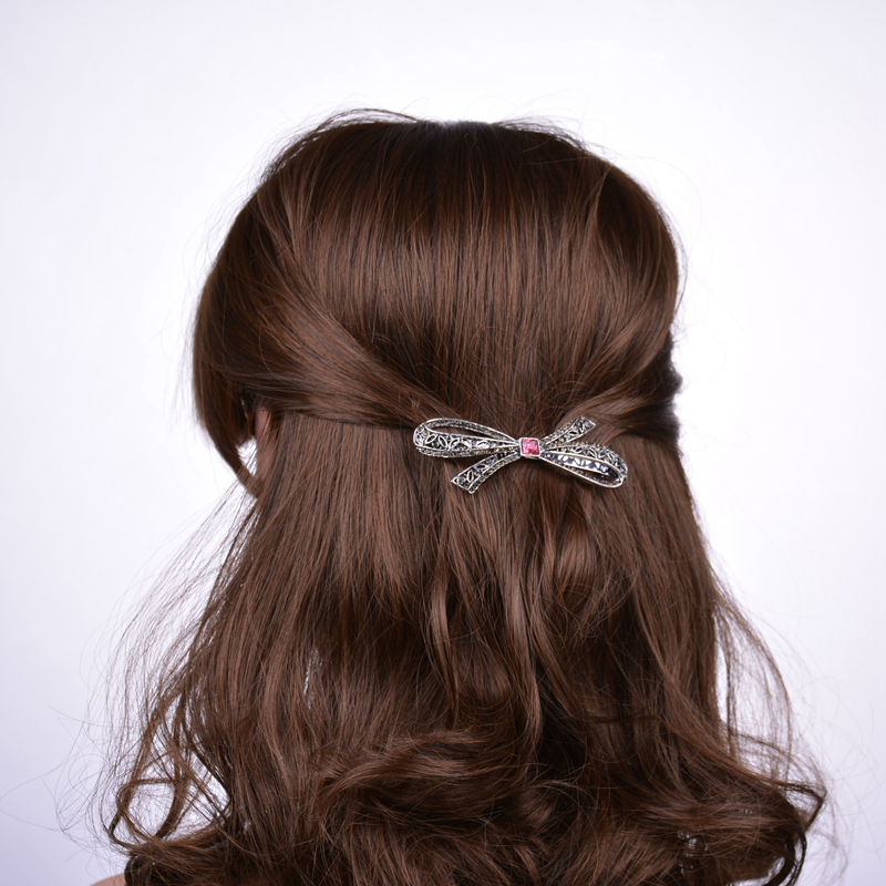Shop2342187 Store Sterling Jewelry High Elegant Bowknot Crystal Barrettes Hairclips Hairpins Hairwear For Fashion Women
