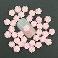 50 Unids/lote 3D Nail Art Encanto Joyería 6mm Pink Rose de la Resina flores de Decoración Para Uñas decoración de DIY Pegamento de Uñas Accesorios Arte PJ211