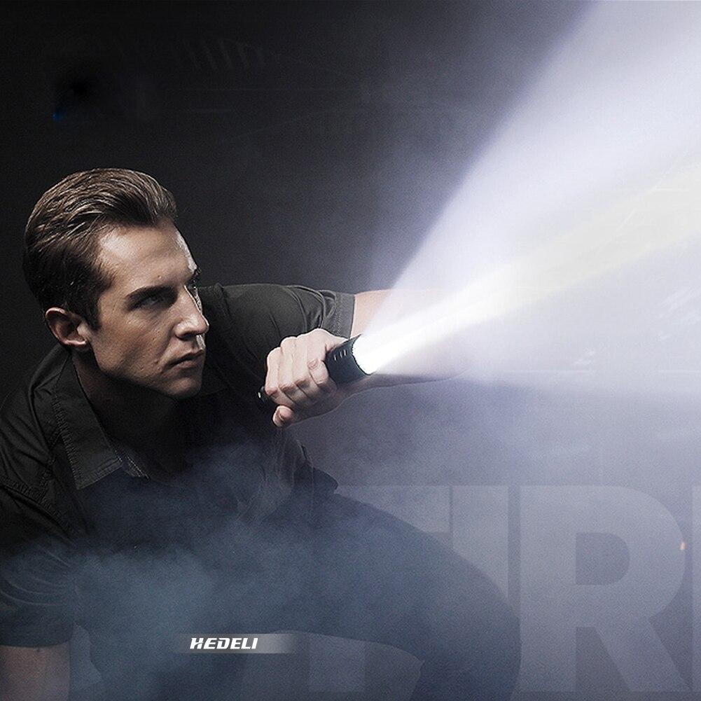 Mais poderosa lanterna tática usb luz da