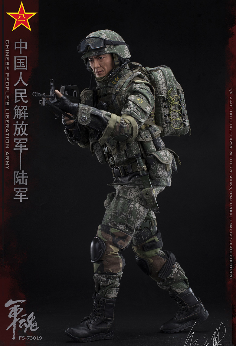 1/6 Scale Chiese People's Liberation Army Soul-Series Army Machine Gunner Military Solider Action Figure Full doll collection 16