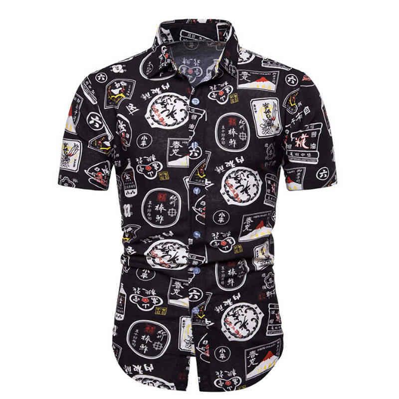 メンズ夏のファッションビーチハワイシャツブランドスリムフィット半袖花シャツカジュアルホリデーパーティー服カミーサ M-5XL