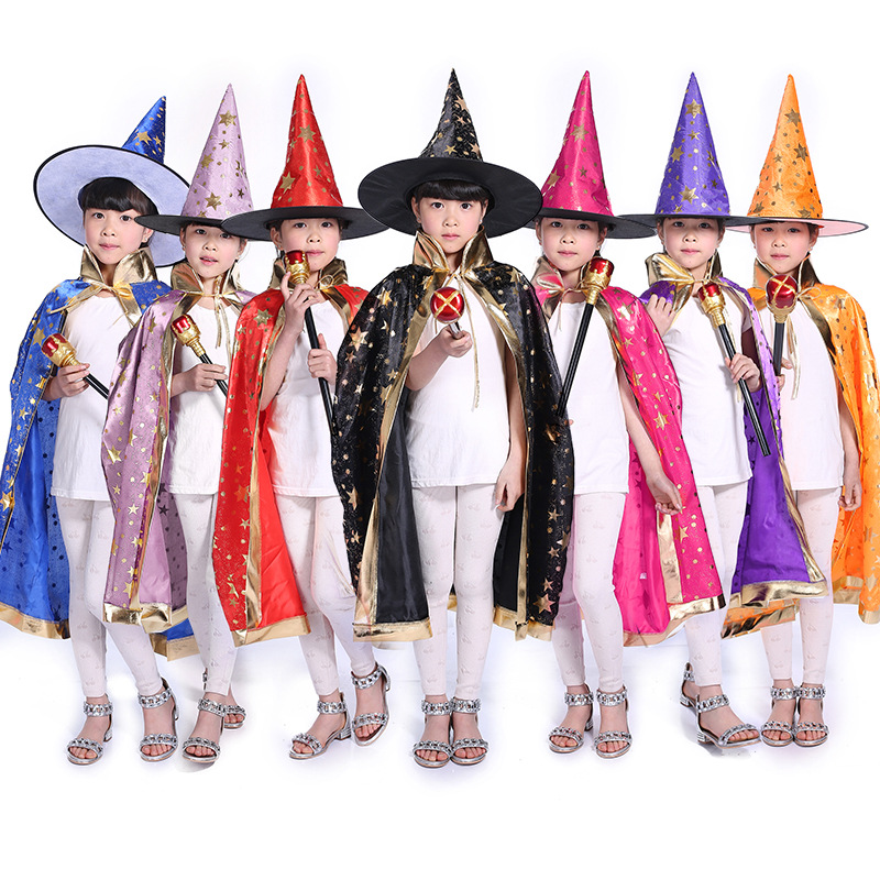 2018 New Design Witch Costume Cloak Halloween Creative Cosplay Costume Halloween Witch For Baby Halloween Girl Gifts Children