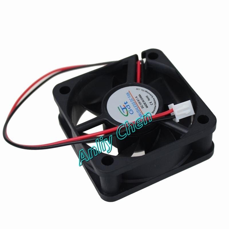 10 Pieces LOT Gdstime Brushless Cooler 50mm 50x50x20mm DC 2Pin 12V Cooling Heatsink Radiator Fan 20 pieces lot gdstime 40mm 40 x 40 x 10mm 4010s dc 12v 2p brushless cooler cooling fan