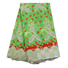 Free Shipping 2016 New Design African Wax Prints Fabric With Guipure Cord Lace And Stones African Dress For Women Wax Fabric