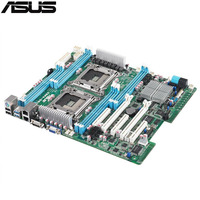 Оригинальный использовать сервер материнская плата для ASUS Z9PA D8 C602 Поддержка 2011 E5 2600/E5 2600 v2 Максимальная DDR3 256 ГБ 4 * SATAIII 2 * SATAII ATX
