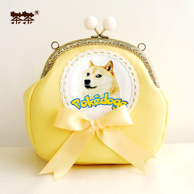 Princess sweet lolita bag The magic of funny adorable God annoying dog elegant tender yellow  BAG74