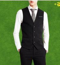 Mens traje de chaleco Slim fit chaleco negro chaleco azul marino chalecos chaleco hombre traje para hombre vestido chalecos chaleco botón formal