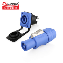 Cnlinko M24 3 Pin 500V 20A Powercon Connector for LED Disply Lighting Video Audio Speaker Industrial