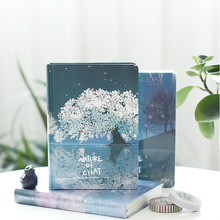 """Nature Chat"" Hard Cover ჟურნალი დღიური Blank Art Papers Notebook School Study Planner Notepad"