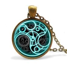 Нью-стимпанк ручной великобритания фильм доктор доктор кто бомба ожерелье 1 шт./лот бронза стекло серебряный кулон ювелирные изделия женщин людей подарков 2016