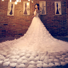 Las Mujeres Vestido Largo De novia de Mariage Vestido De Noiva Vestidos de Novia Barato Ropa de China Barato ropa de china Robe De Vestidos de Fiesta 5