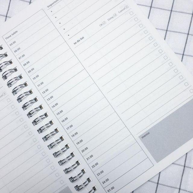 spiral notebook cuadernos day planner agenda libros kraft paper - school agenda