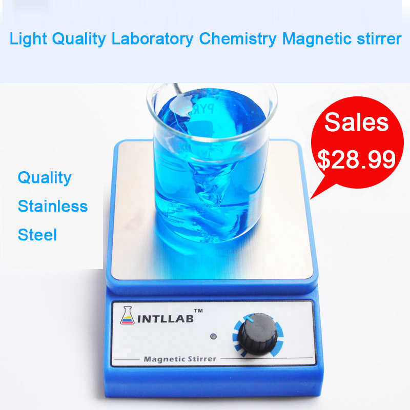 Free Shipping Stainless Steel Light Mini Laboratory chemistry magnetic stirrer mixer with stir bar 3000 rpm 0.86W AC100 to 240V laboratory ptfe 50cm stir paddle teflon stirrer stainless steel core
