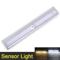 LED Night Light 10 LED Anto Motion Sensor Closet Cabinet Light Wireless IR Infrared Induction Night
