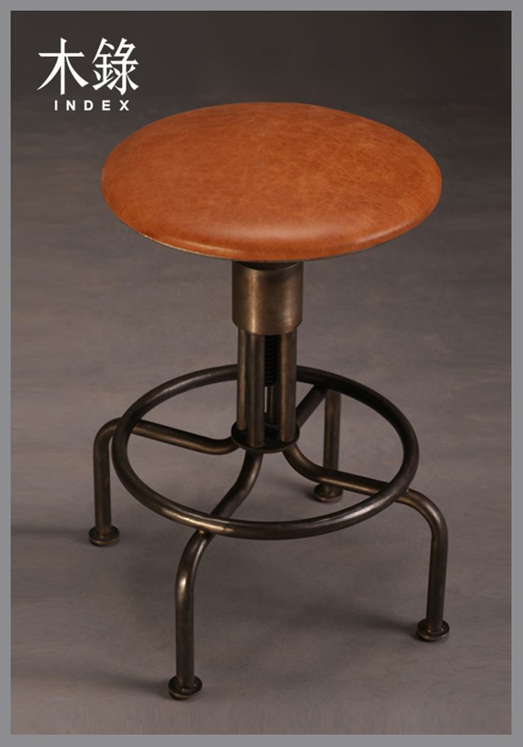Nischen Land Die Alte Schmiedeeiserne Industrie Retro Leder Barhocker Rotierenden Lift Kaffee Hocker Stool Black Chair Woodstool Bar Chair Aliexpress