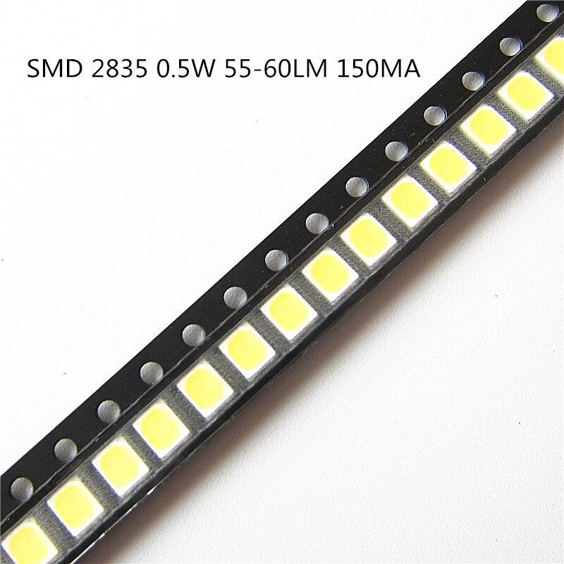 купить 105-1050PCS> SMD LED 2835 Chip 0.5W 3V 150mA White 55-60LM Ultra Bright 0.5 Watt Surface Mount PCB LED Light Emitting Diode Lamp по цене 114.92 рублей