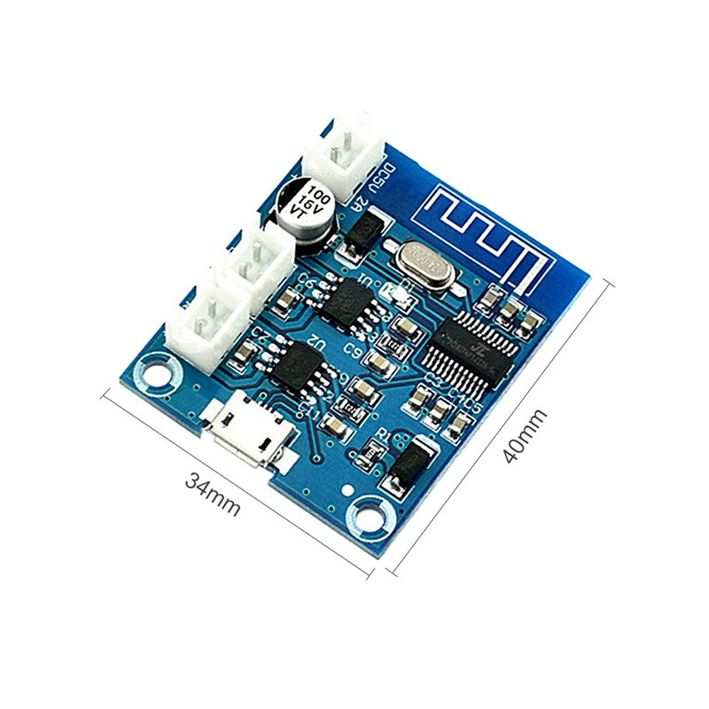 Image 4 - Bluetooth 4.2 Power Amplifier Board Audio Module Stereo channel 5W*2 With Charging DIY Modified Speaker-in Amplifier from Consumer Electronics