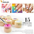 Venalisa New 2019 Manicure Nail Art Tips 180 Color UV LED Soak Off Gel Lacquer Polish Paint Gel Ink UV Gel for nail art design