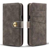 Съемная задняя кожаный чехол для iPhone 5 5S SE 6 6 S 7 Plus Samsung Galaxy S7 край S8 плюс Чехол карты Бумажник Флип Магнитная