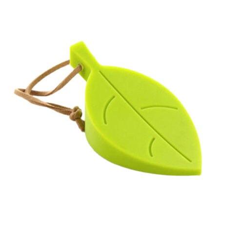 1pcs green leaf shaped silicone door stopper holder children kids safety guard home decor finger protector