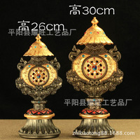 Nepal/copper alloy/eight auspicious furnishing articles/Tibetan buddhist tantric pagoda/multiplier/eight auspicious combination
