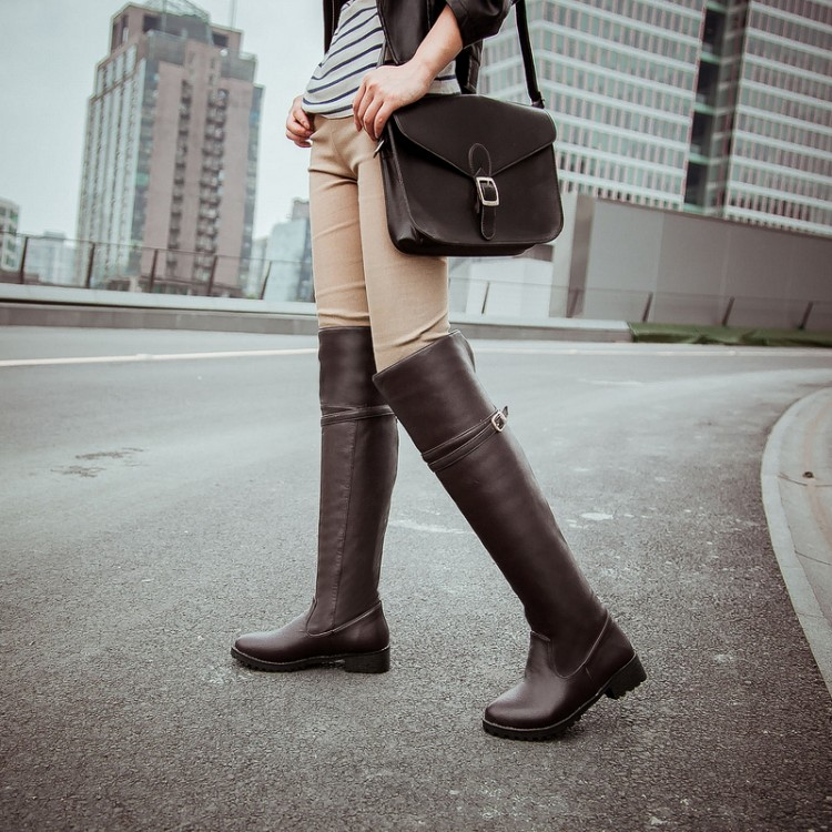 ФОТО Customize big drum soft leather boots plus size knee-length 40 44 33 small yards female boots boots free shipping