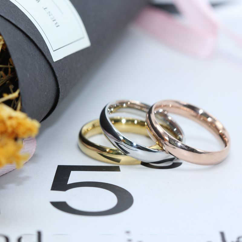 2018 Stainless Steel Finger Ring For Men Rose Gold Rings For Women Silver Plated Ring Women Wedding Jewelry Couple Rings gifts