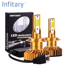 Infitary H7 LED Car Light H4 LED H1 H11 H3 H13 9005 HB3 9006 HB4 9004 9007 880 72W 8000LM 12V 24V 6500K Auto Headlight Fog Lamp(China)