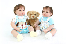 bebe reborn doll hot sale toys Boutique slicone reborn baby dolls 50cm big eyes twin Gift Bonecas Birthday Gift paly house toy l недорго, оригинальная цена