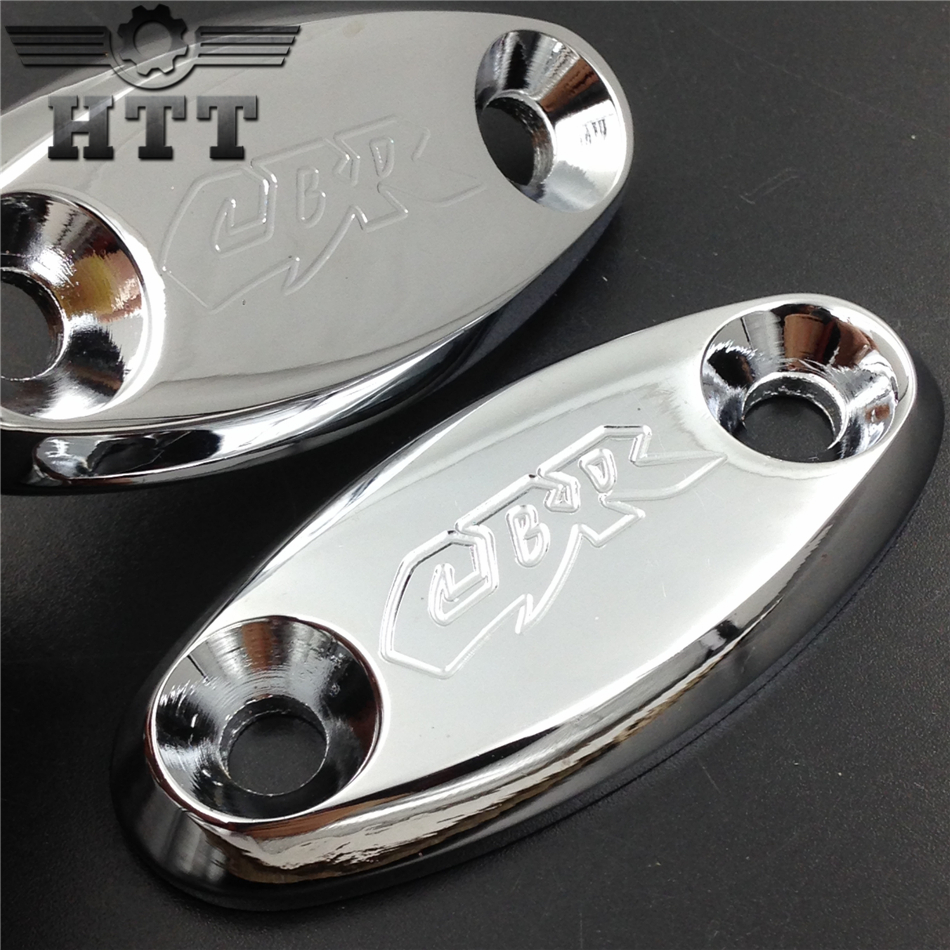 Aftermarket free shipping motorcycle parts  Mirror Block Off base Plates for Honda CBR 600 F4 F4i 900 RR 929 954 1000RR CHR aftermarket free shipping motorcycle parts custom aluminium cluctch cover for 2004 2005 2006 2007 honda cbr 1000rr black