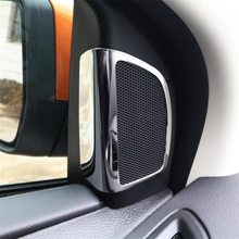 2pcs Stainless steel speaker tweeter decoration speaker stickers For Ford Focus 3 Focus 4 MK3 MK4 2012-2015 ,auto accessories