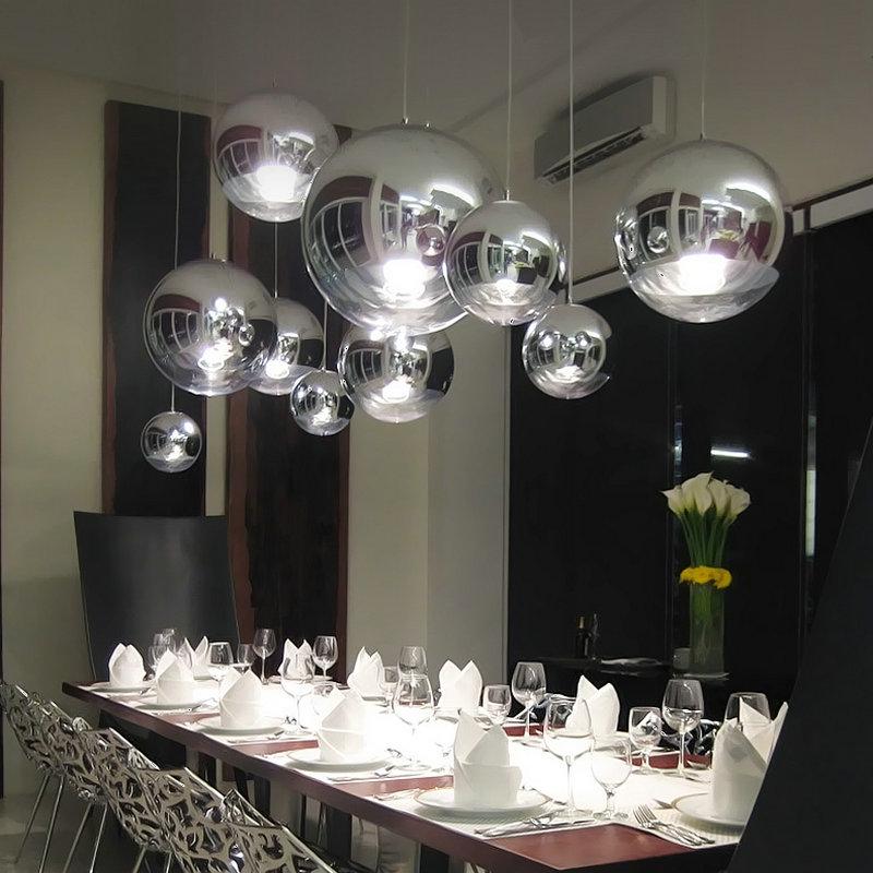 Tom Dixon Chrome Mirror Glass ball pendant lamp Ceiling Light Fixture 30//35//40cm
