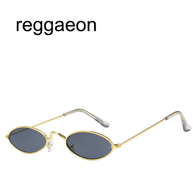 416e2e8f41 reggaeon Small personality sunglasses Korea Oval Sunglasses Women Men Retro  Clear Lens Eyewear Sun Glasses
