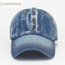 Snapback Brand New Men Women Color Fading Style Demin Jeans Baseball Caps Unisex Hat 80409(China)