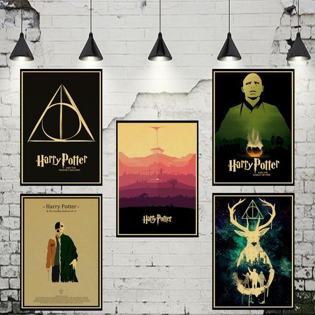 Magnifiek Harry Potter retro Poster Woninginrichting decoratie Kraft film @LV79