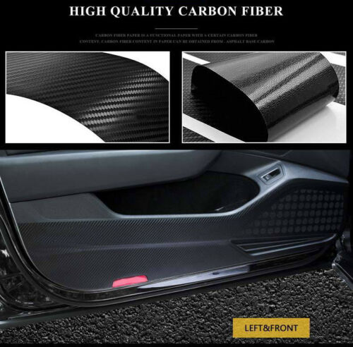 4pcs Car Door Side Edge Anti kick Protection Film Carbon Fiber Sticker For Ford Ecosport in Automotive Interior Stickers from Automobiles Motorcycles