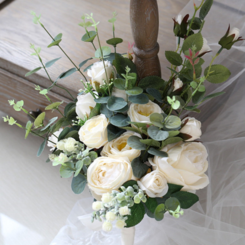 Simple Flower Bouquets For Weddings: High Quality Hand Floral Bride Photography Natural Flower