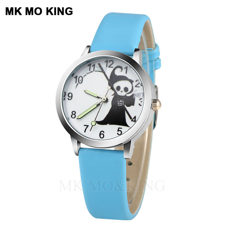 Cool Skull Cartoon Fashion Children's Watch Casual Quartz  Girl Luminous Waterproof Watch Boy Holiday Gift Bracelet Relojes