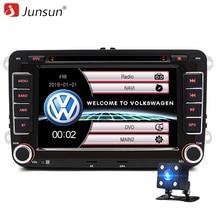 """Junsun 7 """"2 din Auto DVD GPS radio stereo player für Volkswagen VW golf 6 touran passat B7 sharan Touran polo tiguan freies geschenk"""
