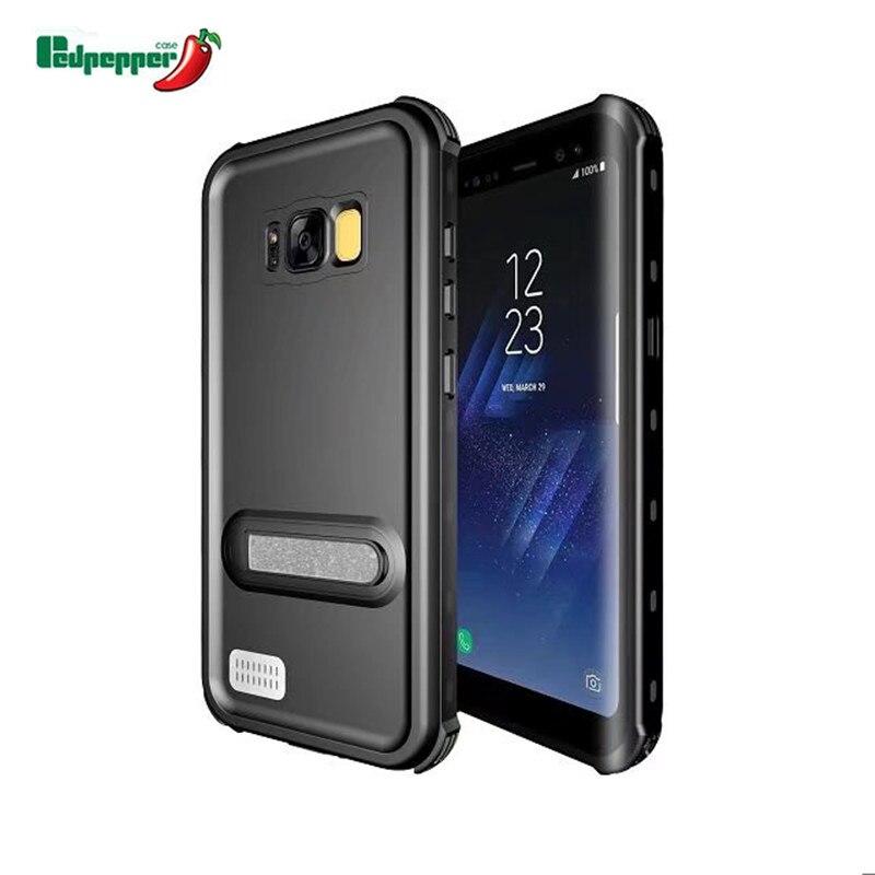 imágenes para IP68 Impermeable Completo Sellado para Samsung Galaxy S8 Más Casos Cubierta Del Teléfono para Samsung Galaxy S8 Resistente Al Agua pata de cabra
