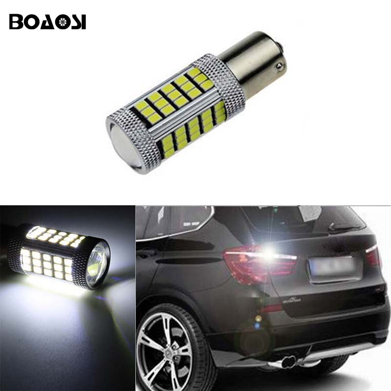 цены  BOAOSI 1x Canbus 1156 LED Reverse Light P21W 2835SMD Car LED Error Free Backup Light Reverse Light Bulb For BMW E30 E36 E46 F30