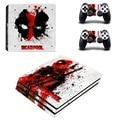Deadpool ps4 pro cubierta engomada de la piel para sony playstation 4 pro consola y los controladores