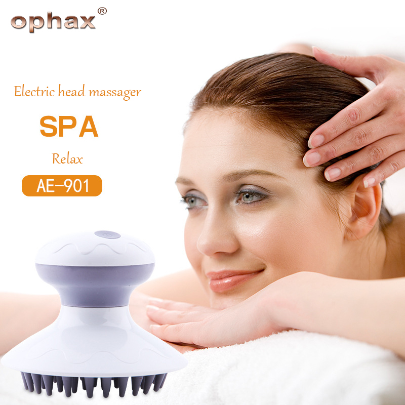 OPHAX head massager electric head scalp massager relieve pressure to promote blood circulation hair growth massgaer products new blood circulation promote head scalp neck stress relax massager я╝иrandom color