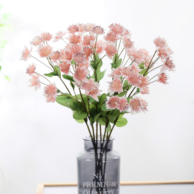 New High Quality 60cm Artificial Flower Snow Lotus Fake Flower 3D Printing Color Flower Home Christmas Wedding Decor Dandelion