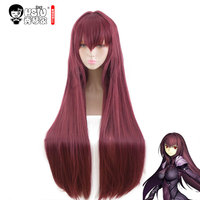 HSIU NEW High quality Scathach Cosplay Wig Fate/Grand Order Costume Play Wigs Halloween Costumes Hair free shipping