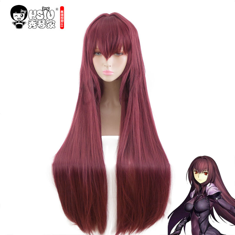 HSIU NOUVELLE Haute qualité Scathach Cosplay Perruque Fate/Grand Ordre Costume Play Perruques Halloween Costumes Cheveux livraison gratuite