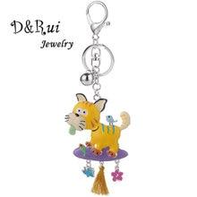 Fashion Cartoon Dog Keychain for Men Women Trinket Creative 2019 Car Bag Keyring Key Chain Ring Holder Accessories Jewelry Gift недорого