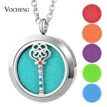 10pcs/lot Aromatherapy Diffuser Locket Necklace 316L Stainless Steel Pendant Magnetic 30mm without Felt Pad VA-845*10